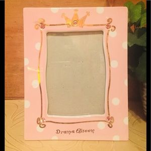 "Ceramic 5""x7"" Pink Drama Queen Picture Frame"
